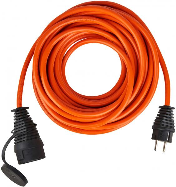 Bremaxx BREMAXX Verlängerungskabel IP44 10m orange AT-N07V3V3-F 3G1,5 - Produktbild 1IP44 10m orange AT-N07V3V3-F 3G1,5 - Kappe offen